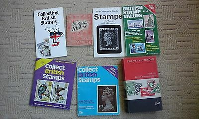 Various Old Philatelic Books Stamp 7 Books Gb Stanley Gibbons Catalogues