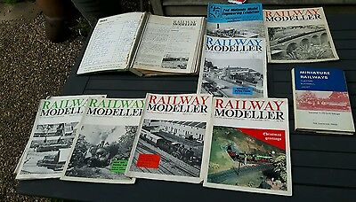 model and miniature railway bound an free magazines and book job lot