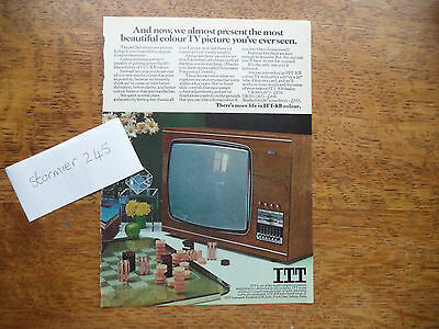 Itt   Tv   Very Scarce   Vintage  Magazine Advert  7   1   O   C