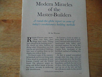 Construction Techniques  Vintage Magazine Article   Must See   J  A  6   4