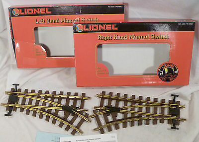 Lionel Large G Scale Right and Left Hand Manual Switch 8-82015 8-82016 Trains