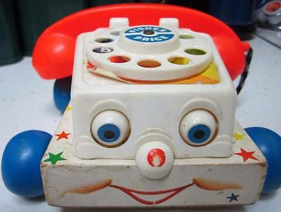 Original Fisher Price #747 Chatter Phone From 1961, Neat Old Wood Toy!