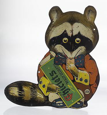 Chiclets Gum Die Cut Raccoon Figure - VERY RARE