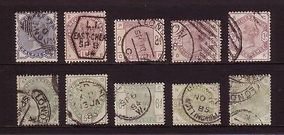 1883 Lilac & Greens, Set of 10,  Fine Used.