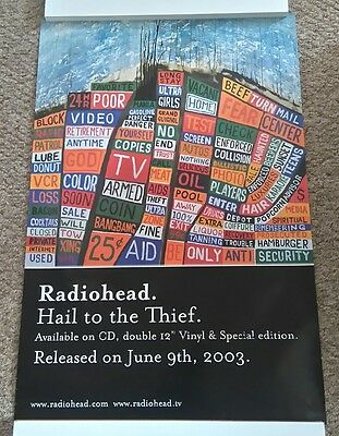 Radiohead Promo Poster Hail To The Thief Stanley Donwood Art