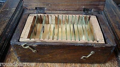 Antique Box / Case Of Microscope Slides