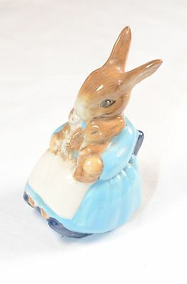 "Beatrix Potter Mrs Rabbit & Bunnies Beswick Pottery 1976 Mint 3.5"" Collectable"