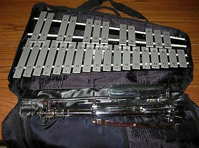 PEARL 30-Key  XYLOPHONE with STAND,  Fitted CARRY CASE