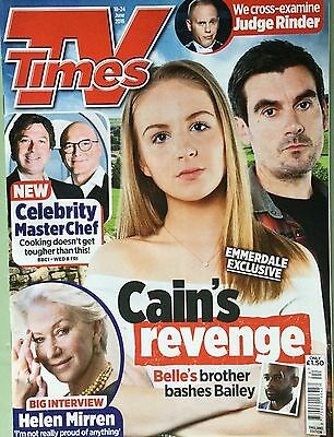 ADAM ANT Helen Mirren JUDGE RINDER Eden Taylor-Draper  UK 2016 TV Times Magazine