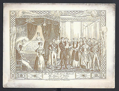Gold Etching Birth of the Prince of Wales 1841 Later King Edward VII