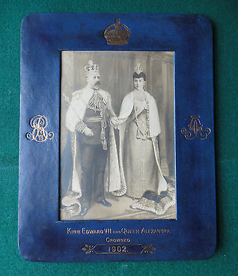 King Edward VII & Queen Alexandra Coronation Souvenir Photograph & Frame 1902