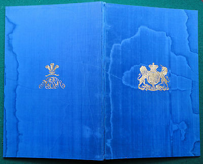 King Edward VII Silk Marriage Ceremonial 1864 Princess Alexanda of Denmark