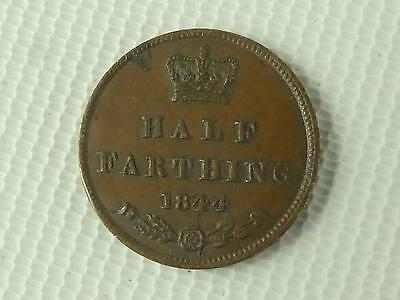 (ref165CW 14) Nice 1844 Half Farthing Coin