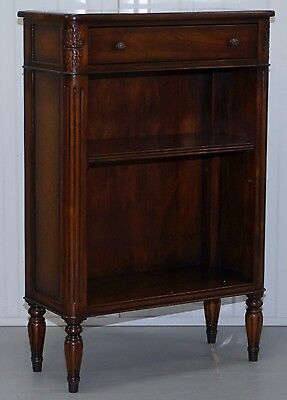 Rrp £899 Theodore Alexander Napoleon Iii Style Republic Bookcase Leather Clad