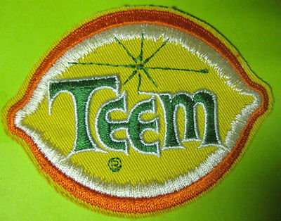 TEEM, Lemon-Lime small SODA PATCH for jacket Pepsico Pepsi Cola DISCONTINUE 1984
