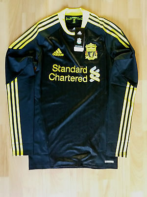 Liverpool 2010-2011 Away Techfit Player Issue Long Sleeve Shirt Bnwt Size Large
