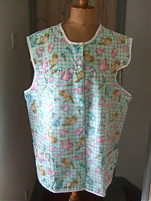 Vintage Overall / Garden Pattern  Large Size -  46 Chest