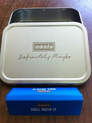 Oasis Definitely Maybe Rare Promo Tin + Smoke Papers Rizla Roll With It - New