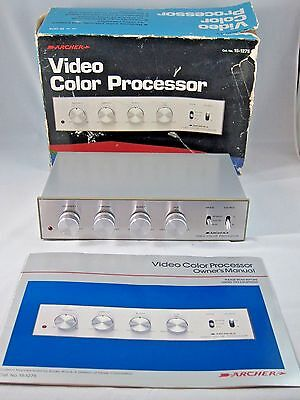 Archer (Radio Shack) Video Color Processor 15-1275 Includes Manual Works Great
