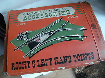Vintage 1950s Chad Valley 0 Gauge/Scale Train Set Right & Left Hand Points Set A