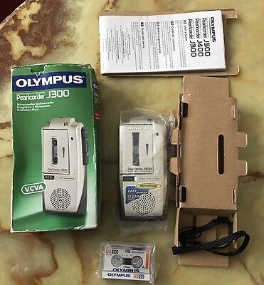 Olympus J300 Pearlcorder Dictaphone Micro Cassette Recorder - New In Box