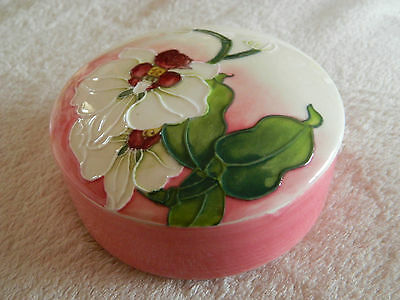 Old Tupton Ware Large Trinket Box In Pink Orchid Design.