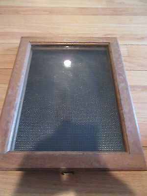 Vintage Jewelry Display Case/storage/glass Front!