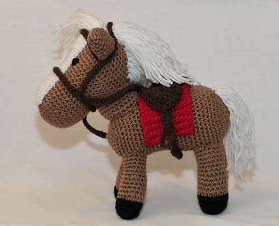 Holly - A hand crocheted gorgeous horse with a white mane and tail.
