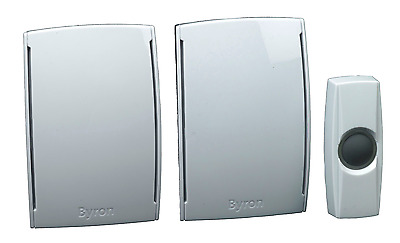 NEW SEALED Byron BY533 Wireless Wirefree Plugin Doorchime Twin Pack
