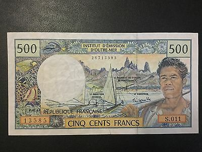 1992 French Pacific Territories Paper Money - 500 Francs Banknote!