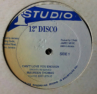 "Can't Love You Enough / Maureen Thomas / Ja Studio One 12"" / Ex!!"