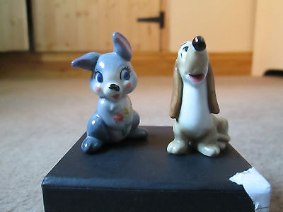 Disney Wade Whimsy Whimsies Lady & The Tramp, Thumper + Trusty Figures