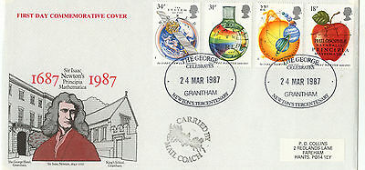 1987 Issac Newton George Hotel Official FDC