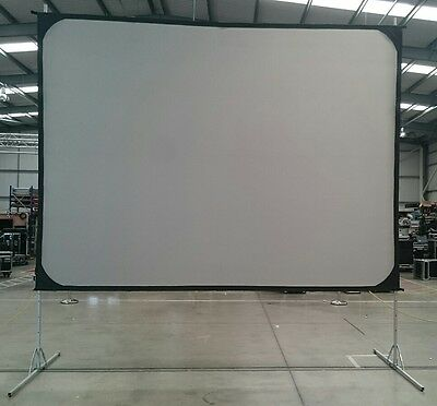 Screen Works 12X9 Fastfold Front and Rear Projection screen with Legs and Frame