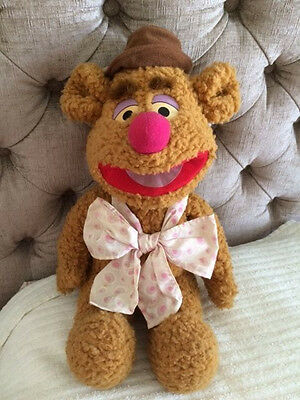 """Fozzie Bear from The Muppets, 15"""" Seated, No Label, Great Condition"""