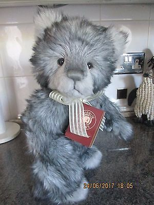 "Charlie Bears Gordy ~ 16"" standing plush bear with tags from Secret Collection"
