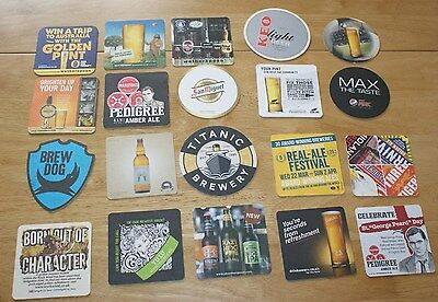 20 Real Ale, Large, Cider Beer Mats Coasters Job Lot