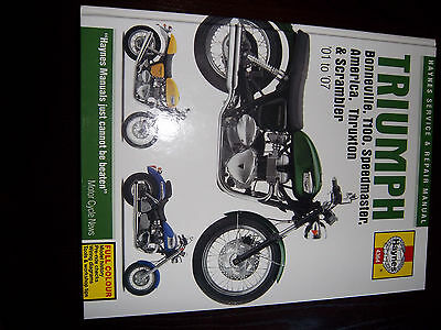 Haynes Manual for Triumph Bonneville all models 01-07