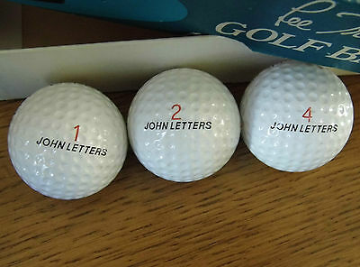 Vintage Lee Trevino Box Of 3 Golf Balls Master Mex New