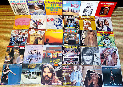 "30 Singles Country & Western Music Folk Rock Oldies 7"" Schallplatten Musikbox 45"