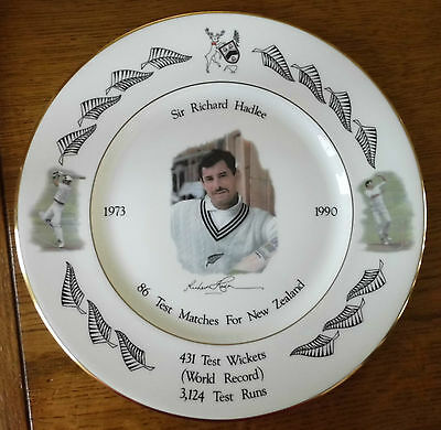Sir Richard Hadlee Cricket Plate Royal Grafton Signed Autograph Boxed