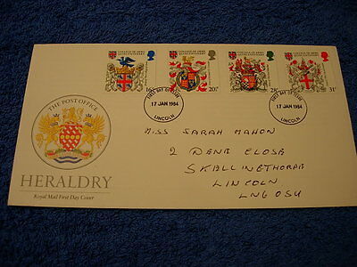 Royal Mail 1st Day Cover - Heraldry  , with information card