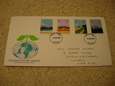 Royal Mail 1st Day Cover - Commonwealth Day, 14th March, with information card