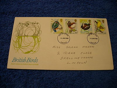 Royal Mail 1st Day Cover - British Birds , with information card