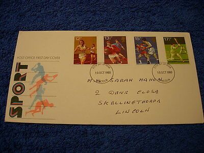 Royal Mail 1st Day Cover - Sport- 1980, with information  card
