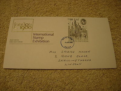 Royal Mail 1st Day Cover - International stamp exhibition, with information card