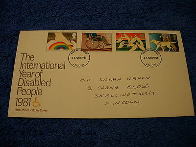 Royal Mail 1st Day Cover - The International Year of Disabled People - 1981