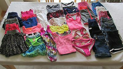 Huge Pre-Own Girls Size 7 & 7/8 & 8 Summer Clothing Lot Justice & More