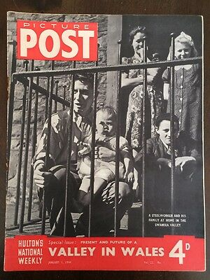 Picture Post Magazine January 1 1944 WW2 Wales Swansea Valley
