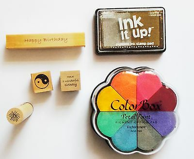 Selection Of Craft Items - Ink Pads And Stamps